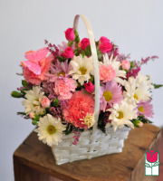 beretania florist zoe basket honolulu hawaii flower basket arrangement delivery