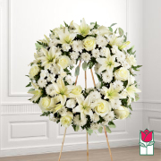 Treasured funeral wreath delivery in honolulu hawaii funeral florist flowers