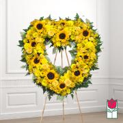 Ainakoa funeral heart wreath delivery in honolulu hawaii funeral florist flowers