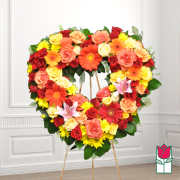 Alewa funeral heart wreath delivery in honolulu hawaii funeral florist flowers