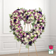 Coco funeral heart wreath delivery in honolulu hawaii funeral florist flowers