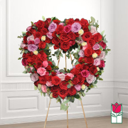 Lahaina funeral heart wreath delivery in honolulu hawaii funeral florist flowers
