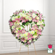 Kaluna heart funeral heart wreath delivery in honolulu hawaii funeral florist flowers