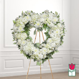 Naupaka funeral heart wreath delivery in honolulu hawaii funeral florist flowers