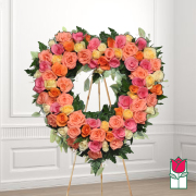 kahakai funeral heart wreath delivery in honolulu hawaii funeral florist flowers