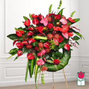 Beretania's Lava Tree Tropical Wreath