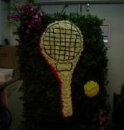 Beretania's Tennis Racket Wreath