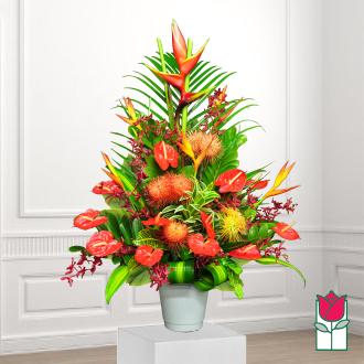 beretania florist cedar tropical arrangement