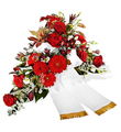 Funeral / Sympathy Bouquet with Ribbon
