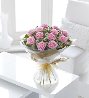 Pink Rose Hand-Tied