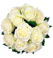 Affection - 12 White Roses