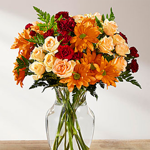 Whiting Flower Shop The Ftd Autumn Gold Bouquet Whiting In 46394