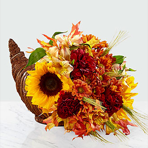 The FTD® Fall Harvest™ Cornucopia