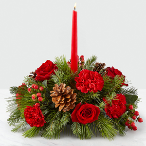 I\'ll Be Home for Christmas Candle™ Centerpiece