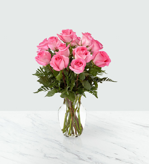 The FTD® Smitten™ Pink Rose Bouquet