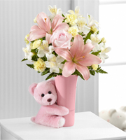 The FTD® Baby Girl Big Hug™ Bouquet