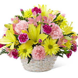 Basket of Cheer Bouquet