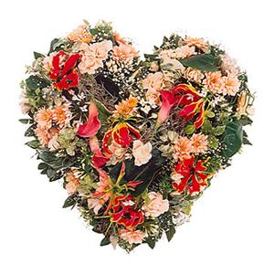 Arrangement: Seasonal Flower Heart