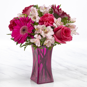 The FTD® Raspberry Rush™ Bouquet- VASE INCLUDED