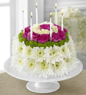 D2-4896	The FTD® Wonderful Wishes™ Floral Cake flower cake flower cake mississauga happy birthday