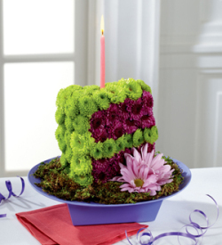 The FTDR Festive WishesTM Floral Cake Slice