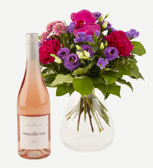 Sparkling Flora with Les Amourettes Rosé Wine