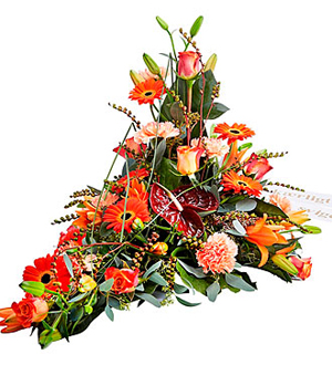 Funeral Decoration with Ribbon