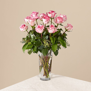 One DOZEN PINK ROSES delivered TODAY in Grand Rapids, Holland, Rockford, Hudsonville, Sunnyslope Floral Locally Owned Florist