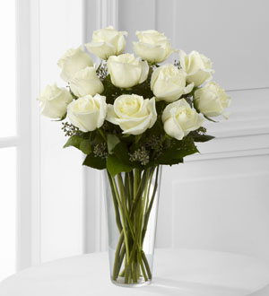 E8-4812	The FTD® White Rose Bouquet