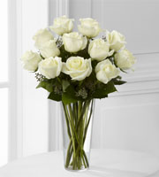 12 WHITE ROSES in a vase DELIVERED TODAY for gift, Sunnyslope Floral LOCAL GRAND RAPIDS flower delivery