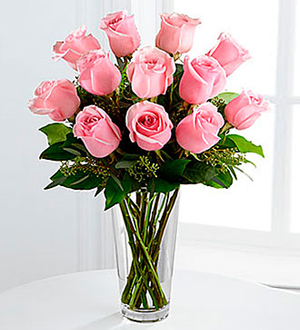 The Long Stem Pink Rose Bouquet by FTD