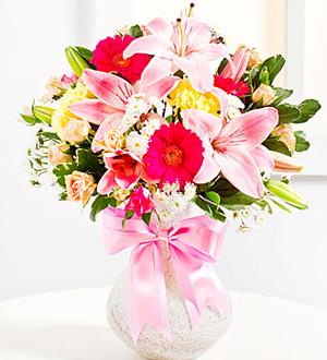 Surprise Bouquet in Pink Colors