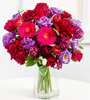 Romantic Bouquet in Purple Colors