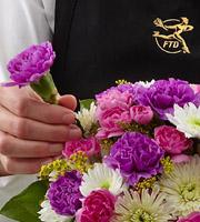 The FTD® Florist Designed Sympathy Vase Bouquet