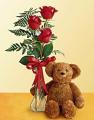 Bear & Rose Bud Vase