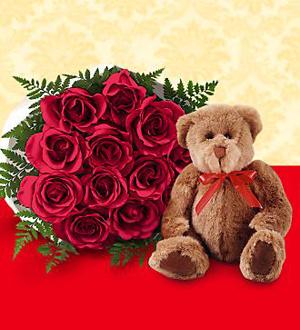 Les roses rouges FTD® et Câlins ™