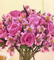 Purple Passion Rose & Lily Bouquet