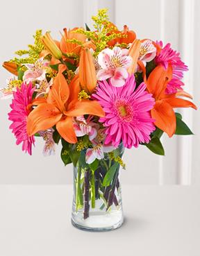 Blooming Brilliance Bouquet with Vase