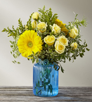 Something Blue™ Bouquet by FTD®- VASE INCLUDED