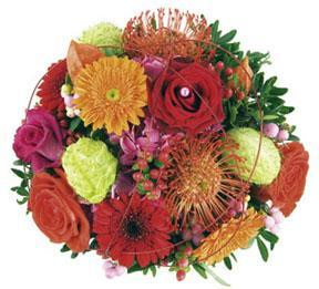 Bouquet de Fleurs de Couleurs Mélangées