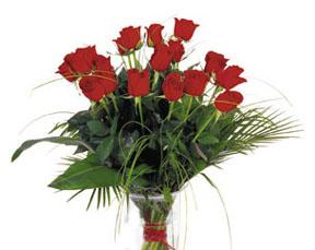 Bouquet de rosas rojas, sin base