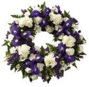 Blue & White Classic Wreath