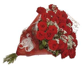Bouquet de roses rouges, sans vase