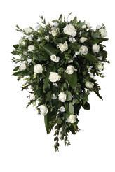 Funeral Spray with Mixed White Cut Flowers