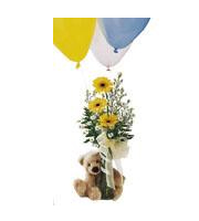 Bouquet con osito Welcome™ de FTD®