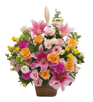 Large Arrangement of Multicolored Flowers