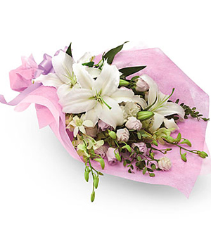 Sympathy Bouquet with some Pastel Colors