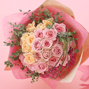 Elegant Hand- Tied Bouquet mainly with roses