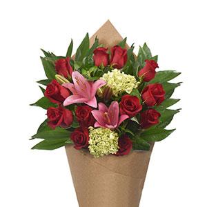 Bloom Haus Elegant Rose Bouquet - Red