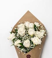Bloom Haus Elegant Rose Bouquet - White
